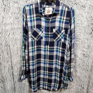 Plaid super soft shirt dress size medium